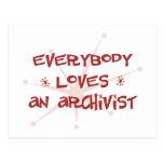 Todos ama a un archivista postales