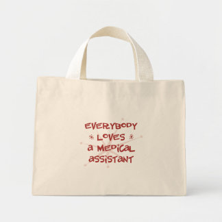 Todos ama a un auxiliar médico bolsa tela pequeña