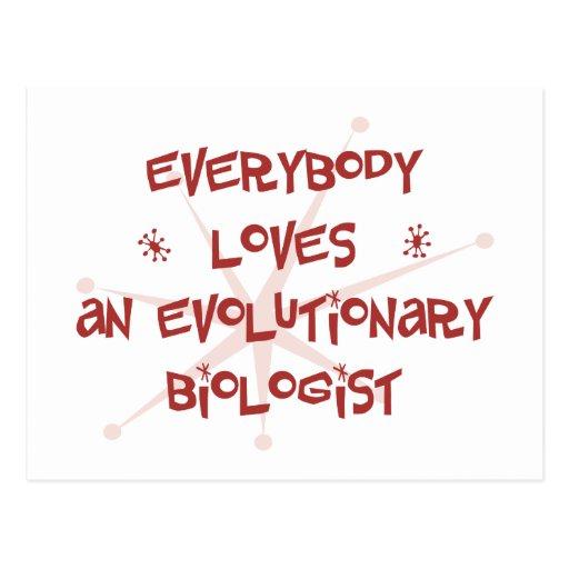 Todos ama a un biólogo evolutivo tarjetas postales