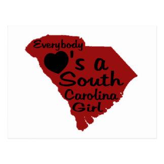 Todos ama a un chica de Carolina del Sur Tarjetas Postales