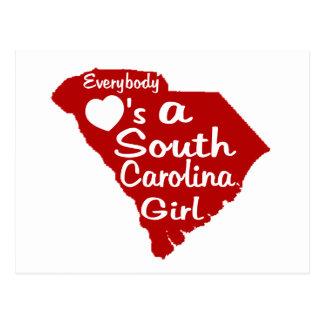 Todos ama a un chica de Carolina del Sur Tarjeta Postal