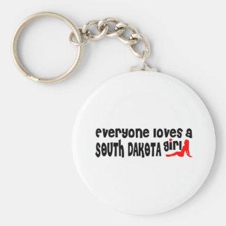 Todos ama a un chica de Dakota del Sur Llavero Personalizado