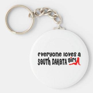 Todos ama a un chica de Dakota del Sur Llaveros Personalizados