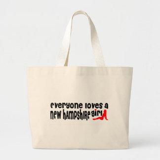 Todos ama a un chica de New Hampshire Bolsas De Mano