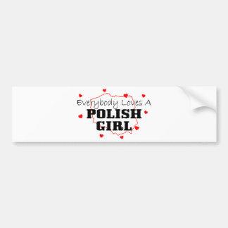 Todos ama a un chica polaco etiqueta de parachoque