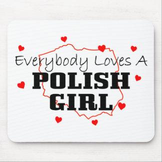 Todos ama a un chica polaco tapetes de ratones