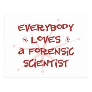 Todos ama a un científico forense postal