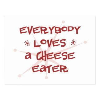 Todos ama a un comedor del queso postal