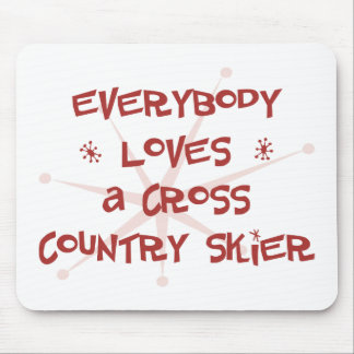 Todos ama a un esquiador del campo a través tapetes de raton