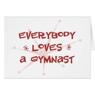Todos ama a un gimnasta tarjeton