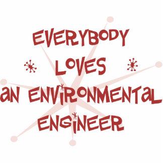 Todos ama a un ingeniero ambiental adorno fotoescultura