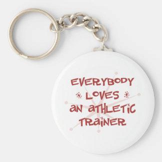Todos ama a un instructor atlético llavero redondo tipo pin
