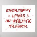Todos ama a un instructor atlético posters