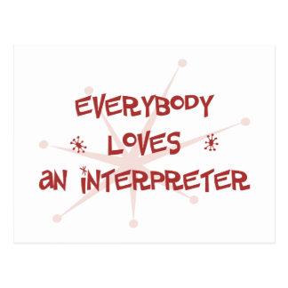 Todos ama a un intérprete postal