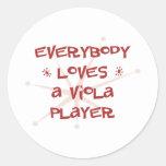 Todos ama a un jugador de la viola pegatina redonda