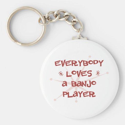 Todos ama a un jugador del banjo llaveros personalizados