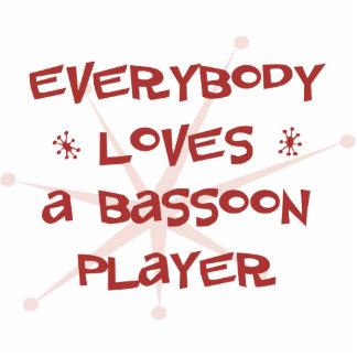 Todos ama a un jugador del Bassoon Adorno Fotoescultura