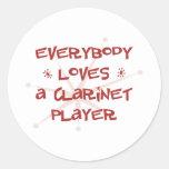 Todos ama a un jugador del Clarinet Etiqueta Redonda