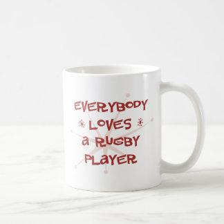 Todos ama a un jugador del rugbi taza