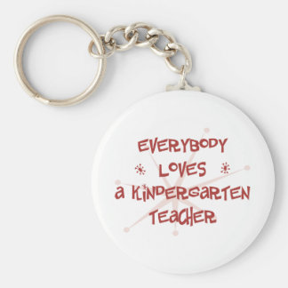 Todos ama a un maestro de jardín de infancia llaveros