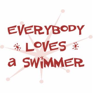 Todos ama a un nadador esculturas fotográficas