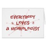 Todos ama a un neurólogo tarjetas