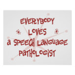 Todos ama a un patólogo de la lengua del discurso impresiones