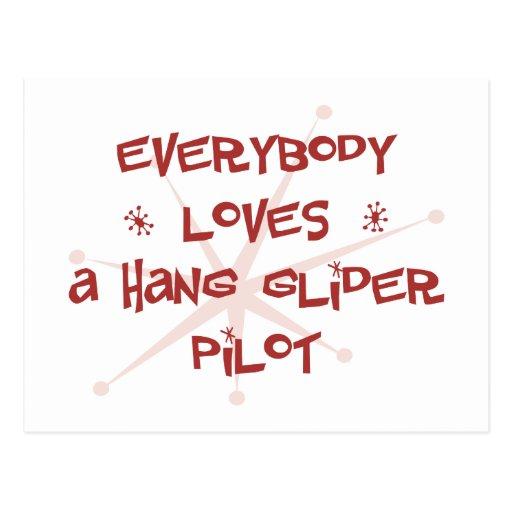 Todos ama a un piloto de planeador de caída postales