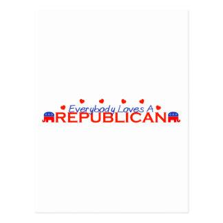 Todos ama a un republicano postal