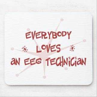 Todos ama a un técnico de EEG Alfombrillas De Ratones
