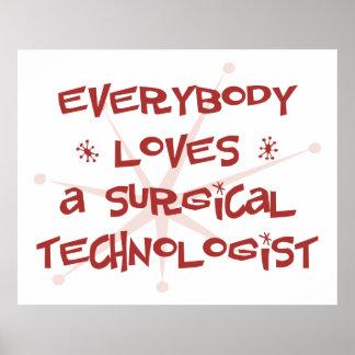 Todos ama a un tecnólogo quirúrgico poster