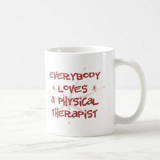 Todos ama a un terapeuta físico taza clásica