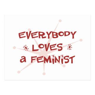 Todos ama a una feminista postales