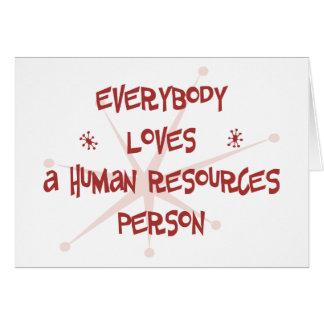 Todos ama a una persona con muchos recursos humana tarjetas
