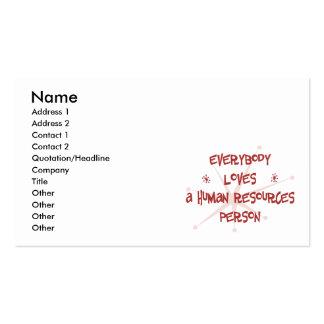 Todos ama a una persona con muchos recursos humana tarjetas de visita
