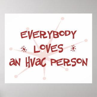 Todos ama a una persona de la HVAC Posters