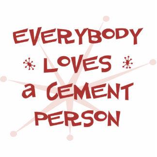 Todos ama a una persona del cemento escultura fotográfica