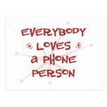 Todos ama a una persona del teléfono postal