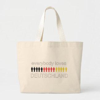 ¡Todos ama Deutschland! Bolsa Tela Grande