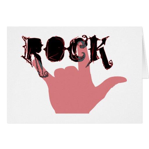 Todos ama la roca tarjeta de felicitación