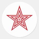 Todos ama las estrellas pegatinas redondas