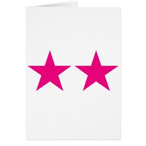 Todos ama las estrellas tarjeta de felicitación