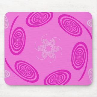 Todos ama remolinos rosados alfombrilla de ratón