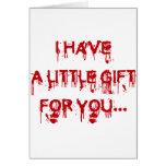 Todos ama sangre tarjeta de felicitación