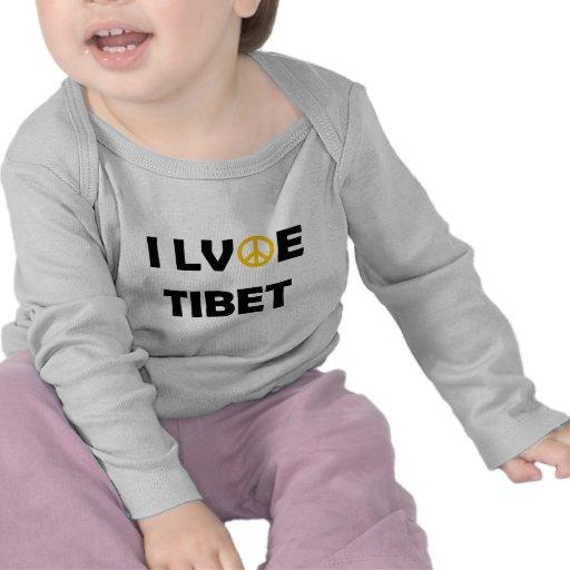 Todos ama Tíbet Camisetas