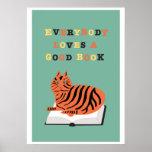 Todos ama un buen poster del libro con el gato