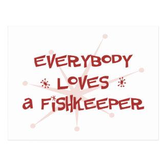 Todos ama un Fishkeeper Postales