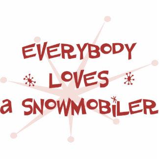 Todos ama un Snowmobiler Esculturas Fotográficas