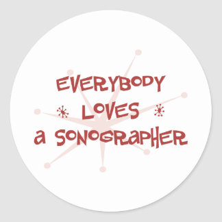 Todos ama un Sonographer Pegatina Redonda