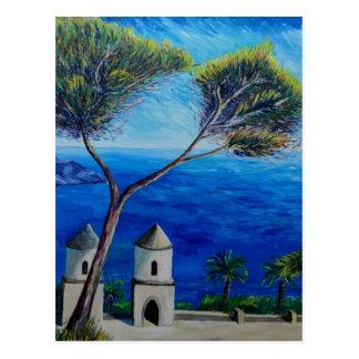 Todos azules en la costa de Amalfi en Italia Postales